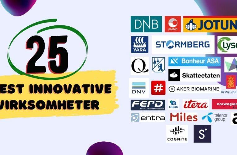 Hvem blir Norges 25 mest innovative virksomheter i 2021?