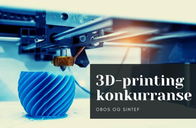 Inviterer til 3D-printing konkurranse