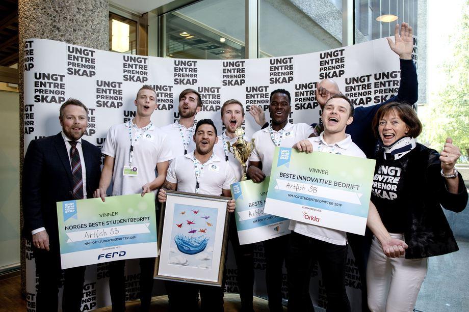 Norske Artifish klare for EM for studentbedrifter i Oslo!