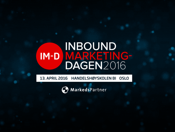 Inbound Marketing-Dagen 2016