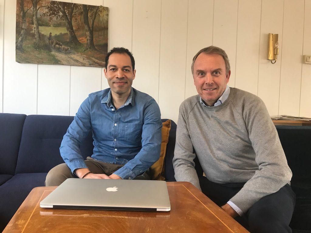 Joakim William Hauge og Torkel Ruud i Upfeeds ledergruppe