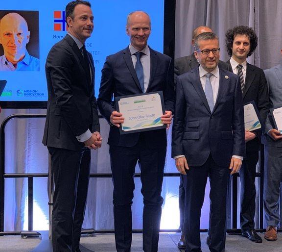 SINTEF-forsker mottar Mission Innovation Champion-pris