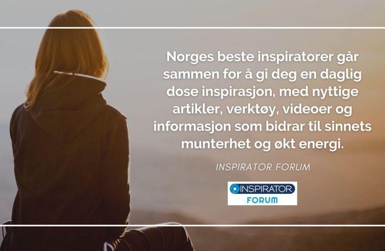 Inspirator Forum – fordi innovasjon krever positiv energi!