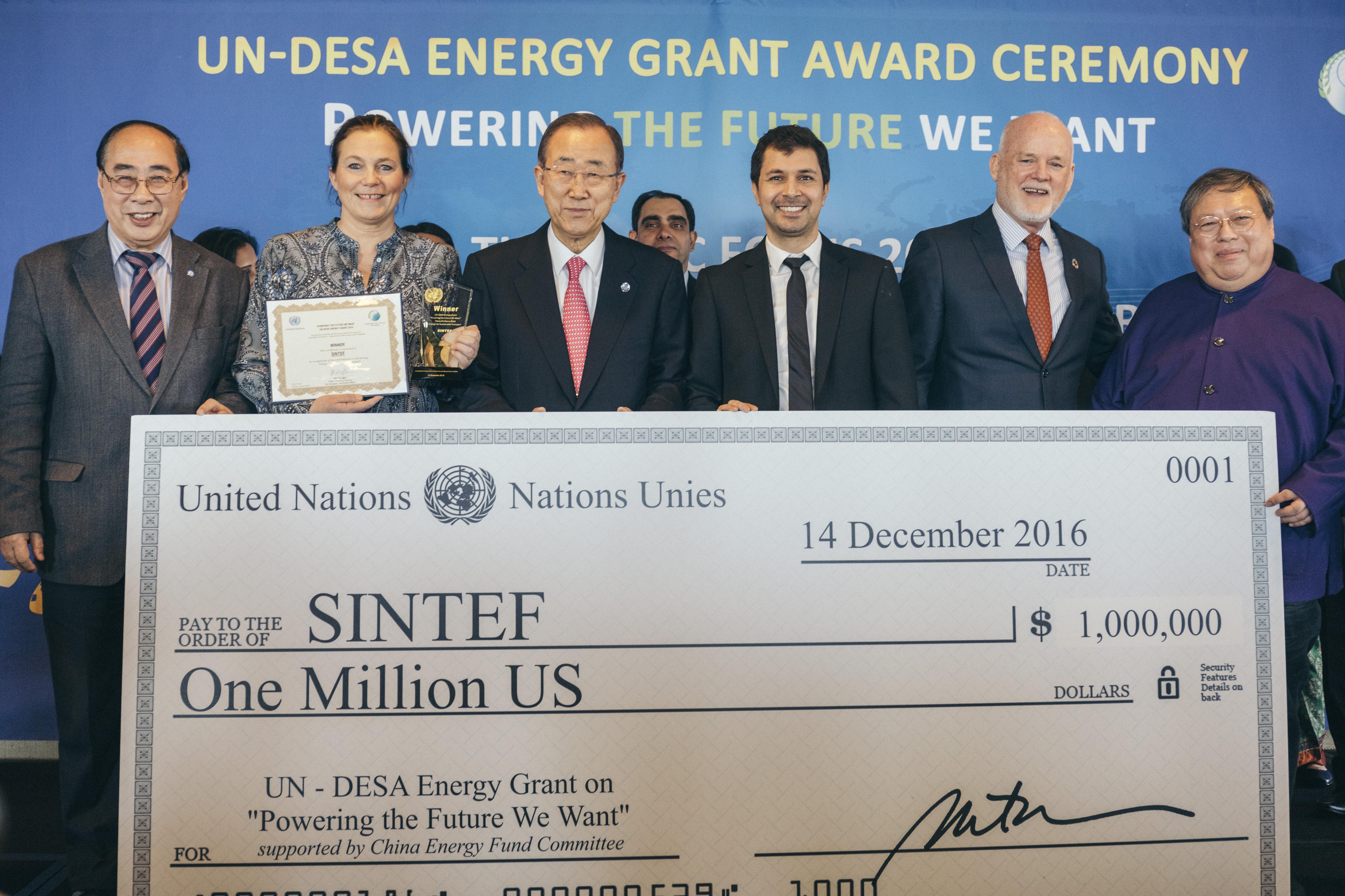 SINTEF tildeles FN-pris for grønt lederskap