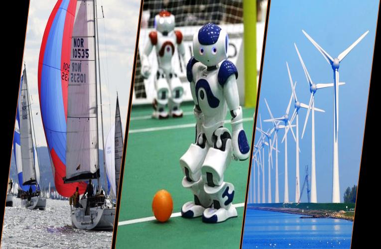 Om regattasyn, ressursplaner og roboter som spiller fotball