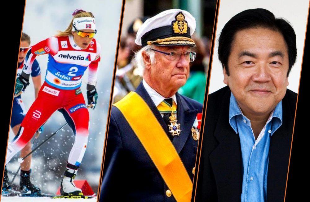 Oberstdorf ski VM, Swedish King - Carl XVI Gustaf, and John Kao