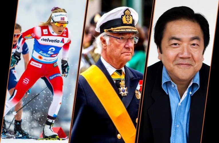 Oberstdorf ski VM, Swedish King - Carl XVI Gustaf, and John Kao